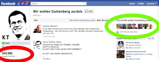 Call for crowd action: Is there cheating with the Guttenberg page on Facebook?